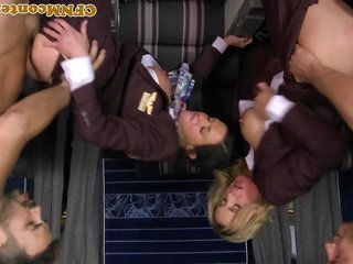 buxom cfnm stewardess analfucked mile high